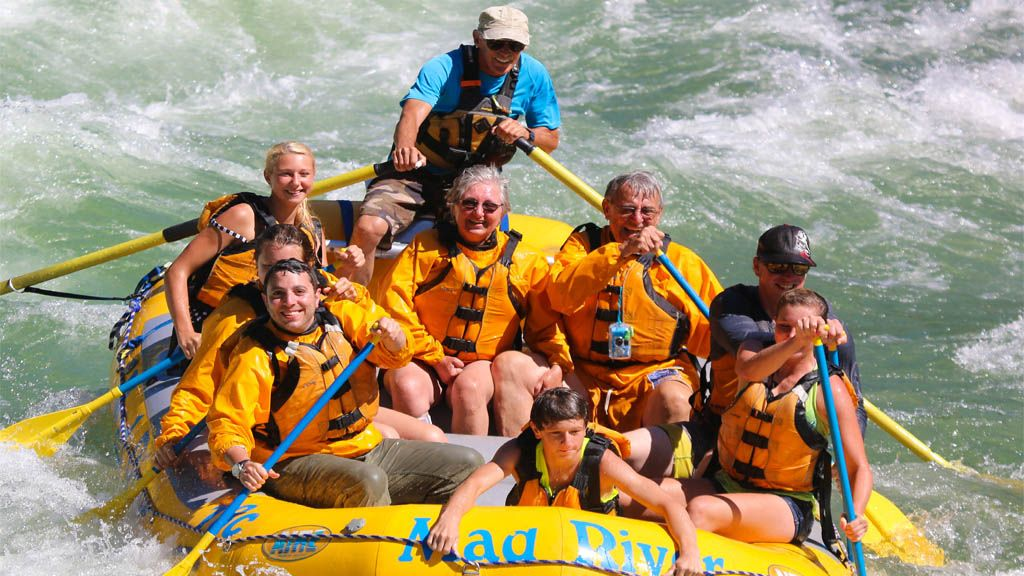 Taking On The Snake River In Jackson Hole Wyoming